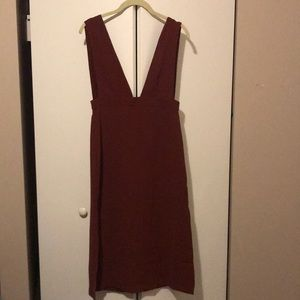 Burgundy overall dress size xsmall